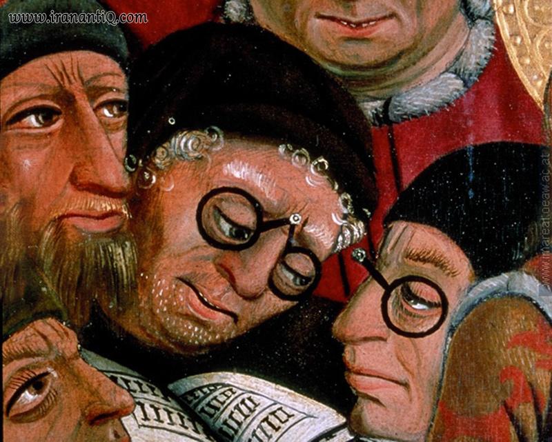 عینک در نقاشی قدیمی