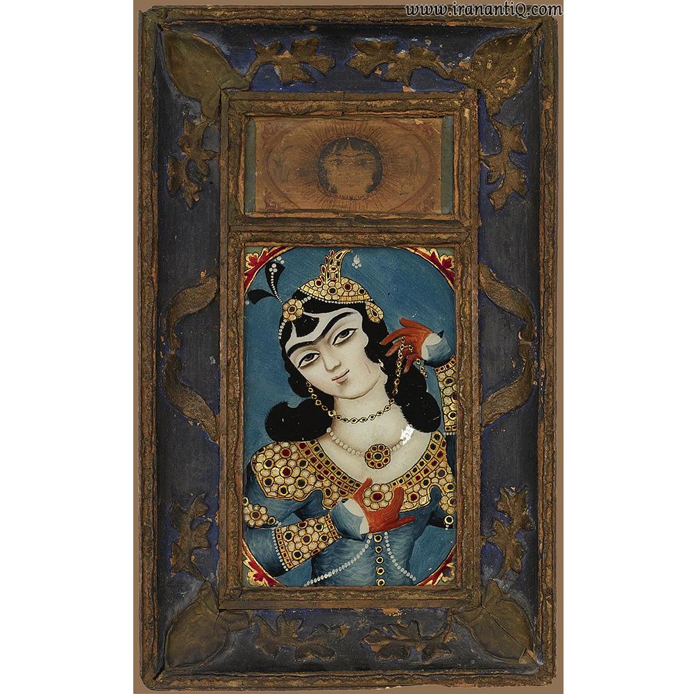 نقاشی پشت شیشه ، قرن نوزدهم ، مربوط به دوره قاجار