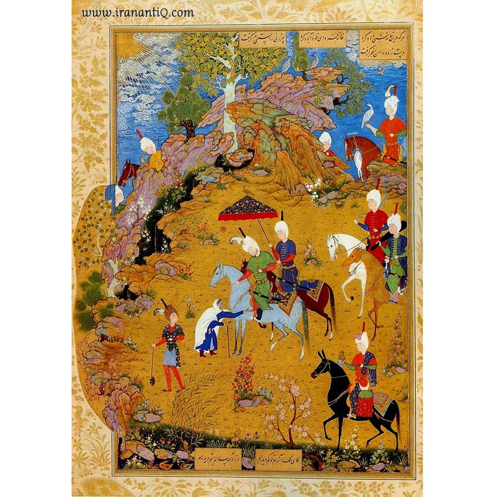 پیرزن و سلطان سنجر ، مکتب تبریز