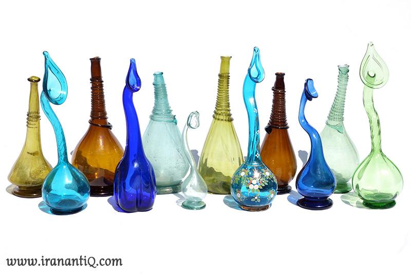 persian antiques glasses ، شیشه های آنتیک ایرانی
