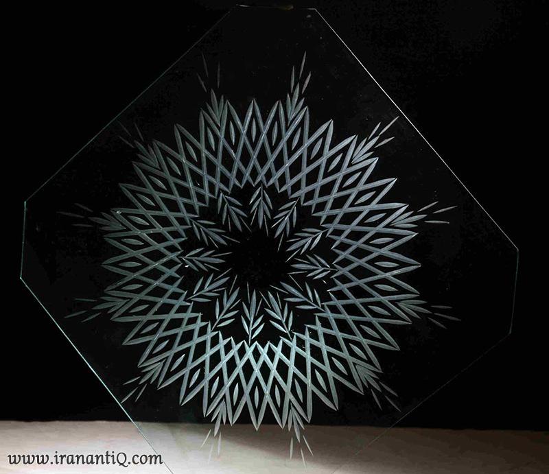 Copper Circle Glass Cutting - تراش شیشه