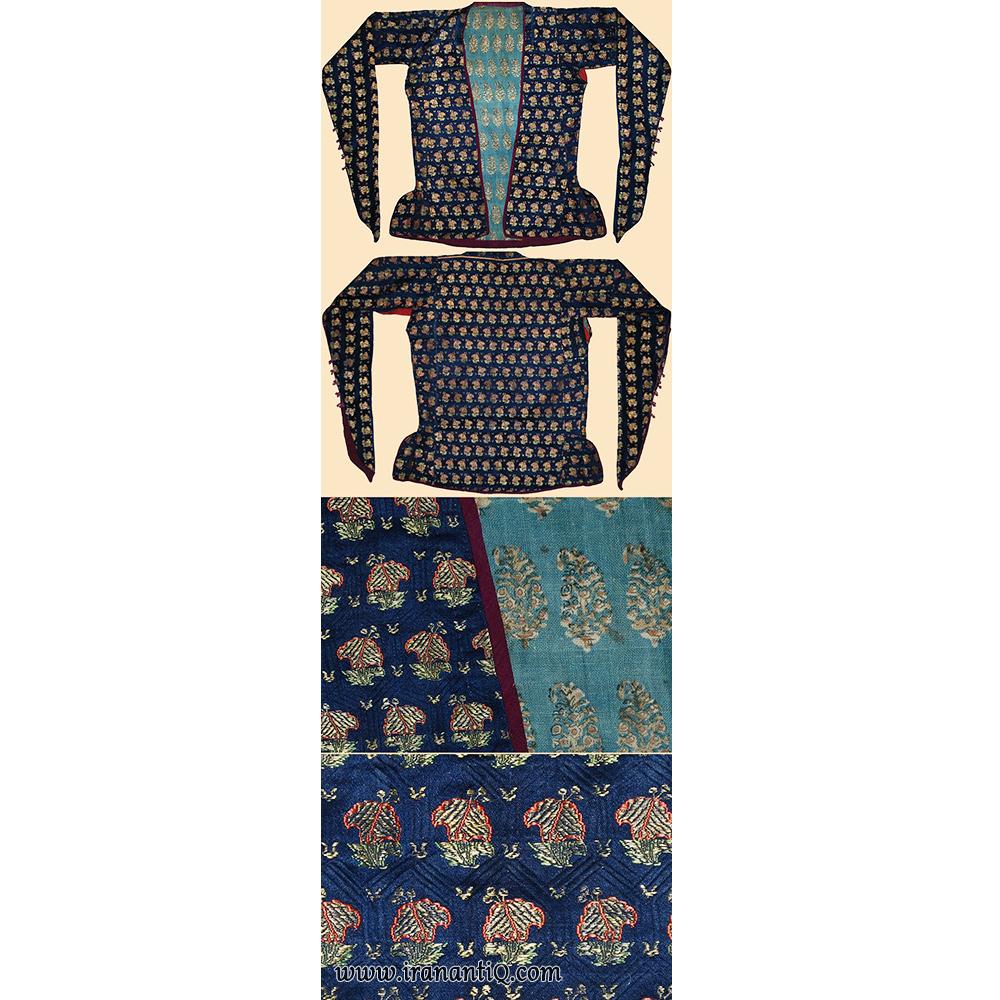 لباسی دوخته شده با پارچه زربفت با نخ نقره ، 1722 -1501 میلادی ، مربوط به دوره صفوی