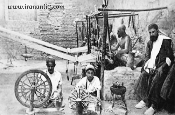 کارگاه شال بافی در قدیم
