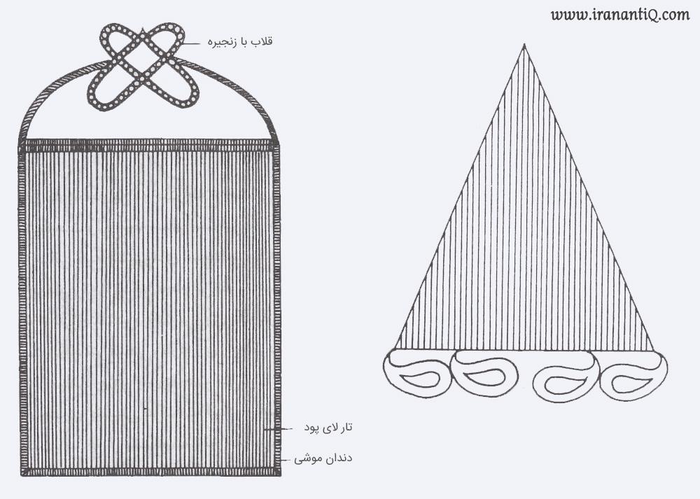 از نمونه طرح های تار دوزی