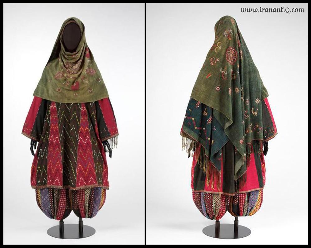 پوشش رودوزی شده زرتشتیان ، مربوط به سال 1870-1840 میلادی