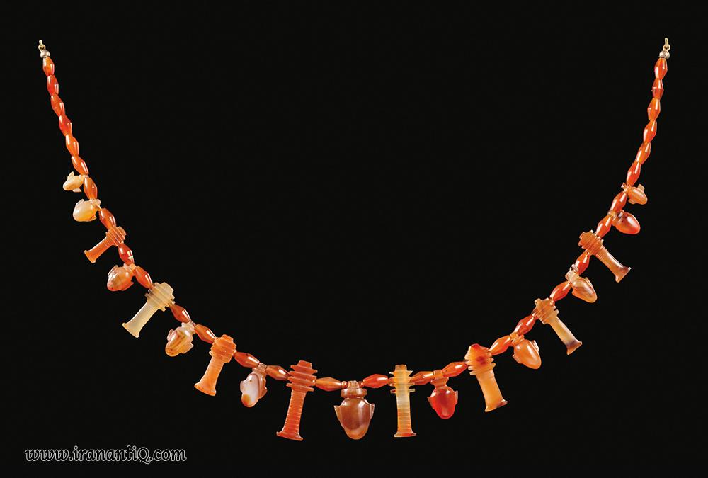 گردنبند عقیق ، مصر ، 1075 - 716 قبل از میلاد