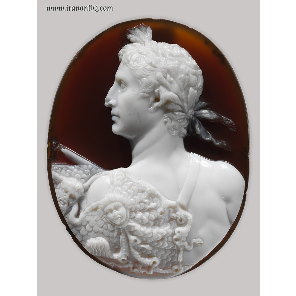 حکاکی بر روی سارد - انیکس ، روم ،  54 - 41 میلادی