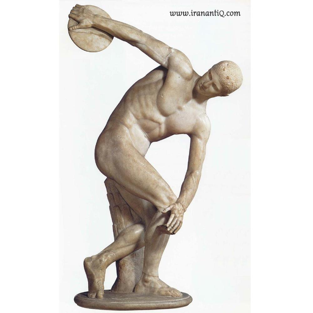پیکره دیسک پران - اثر میرون - حدود 450 ق.م - مرمر - به اندازه طبیعی - موزه ملی رومانو ، روم