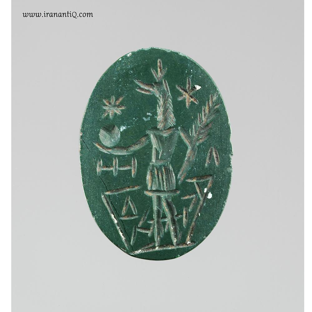 مهری از سنگ جاسپر مربوط به امپراطوری روم ، قرن دوم بعد از میلاد مسیح
