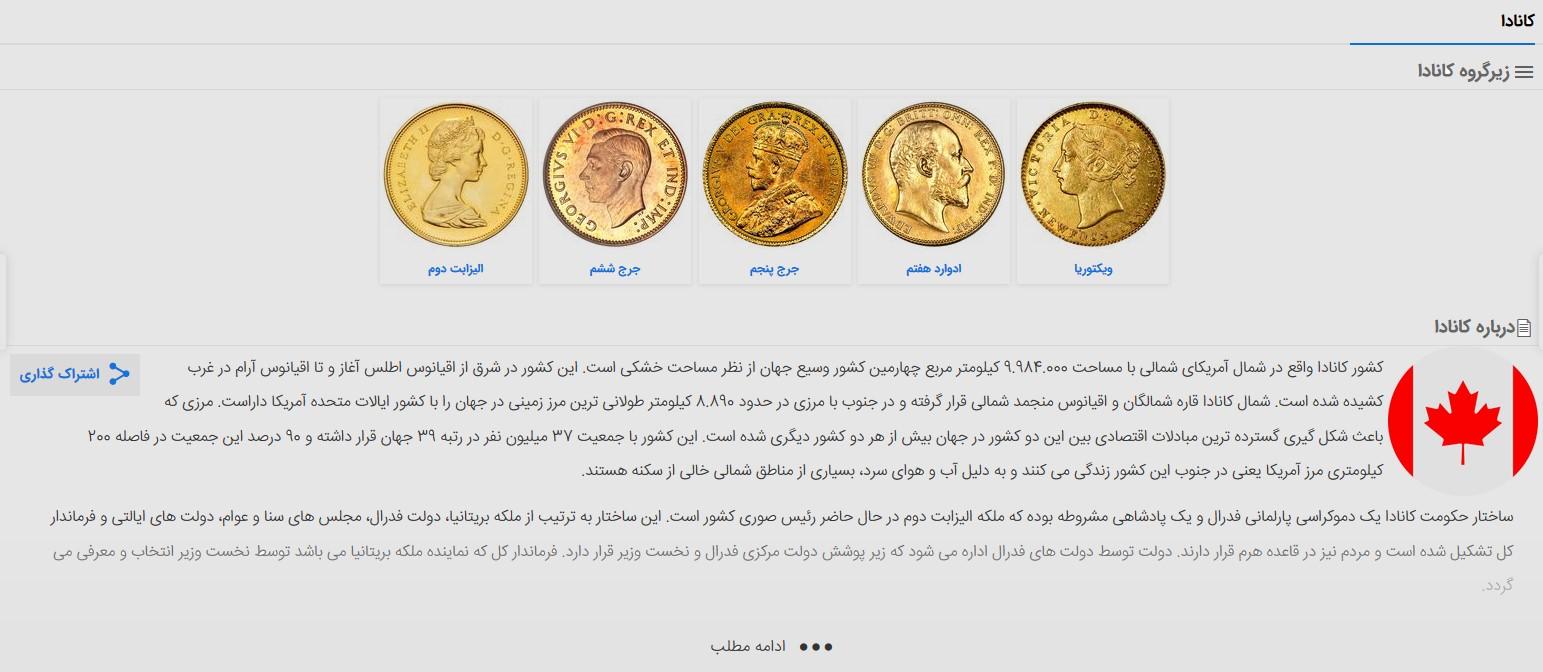قیمت سکه های کشور آفریقای جنوبی