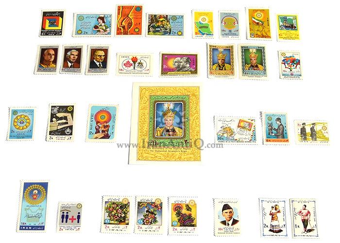 این سری شامل تمبرهای سال 1355 به صورت تک با تعداد 31 عدد تمبر می باشد.
