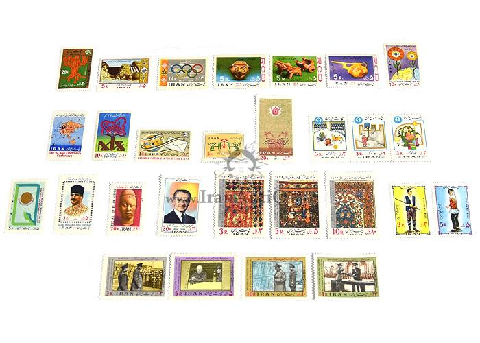 این سری شامل تمبرهای سال 1356 به صورت تک با تعداد 28 عدد تمبر می باشد.