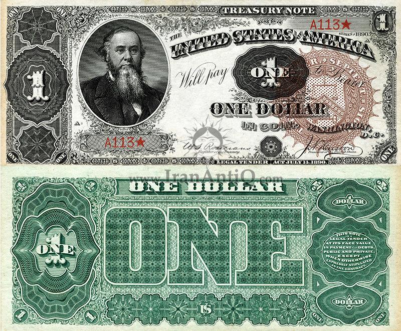 1 دلار سری رایج خزانه داری - ادوین اِستَنسون