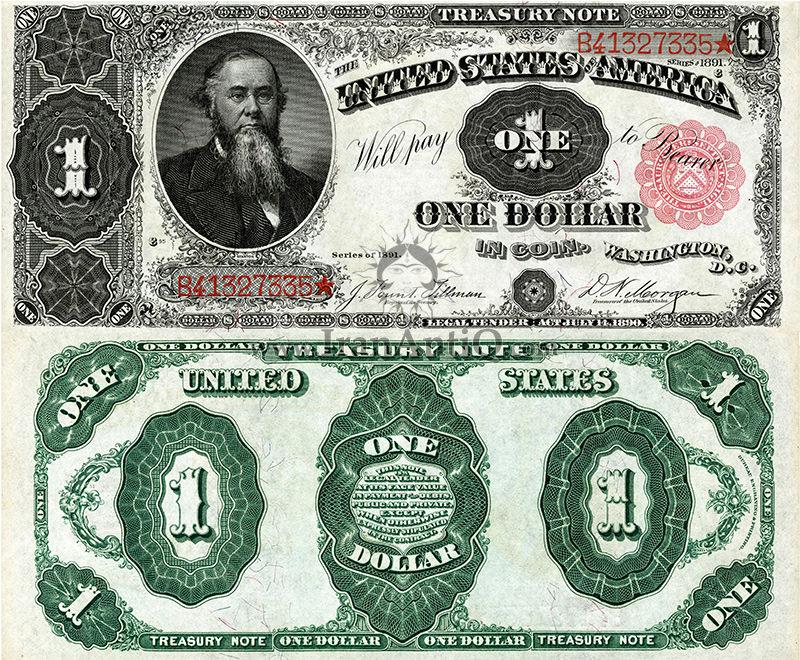 1 دلار سری رایج خزانه داری - ادوین اِستَنسون - تیپ دو