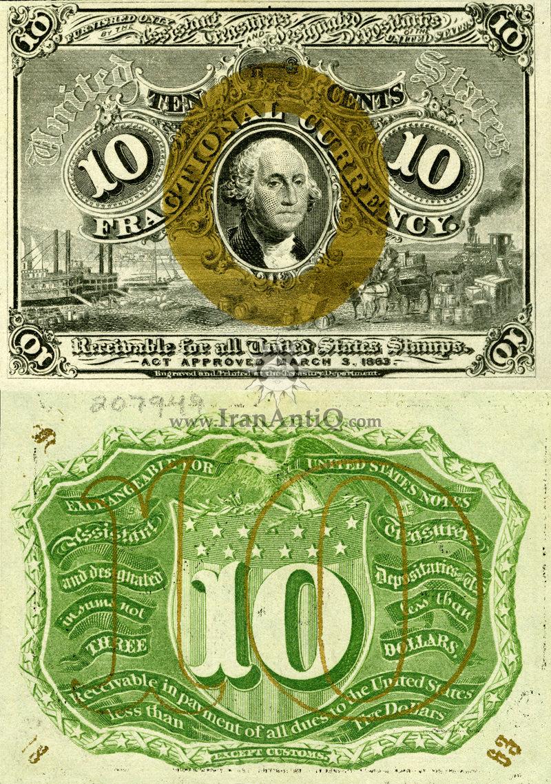 10 سنت سری فراکسیونال - جورج واشنگتن