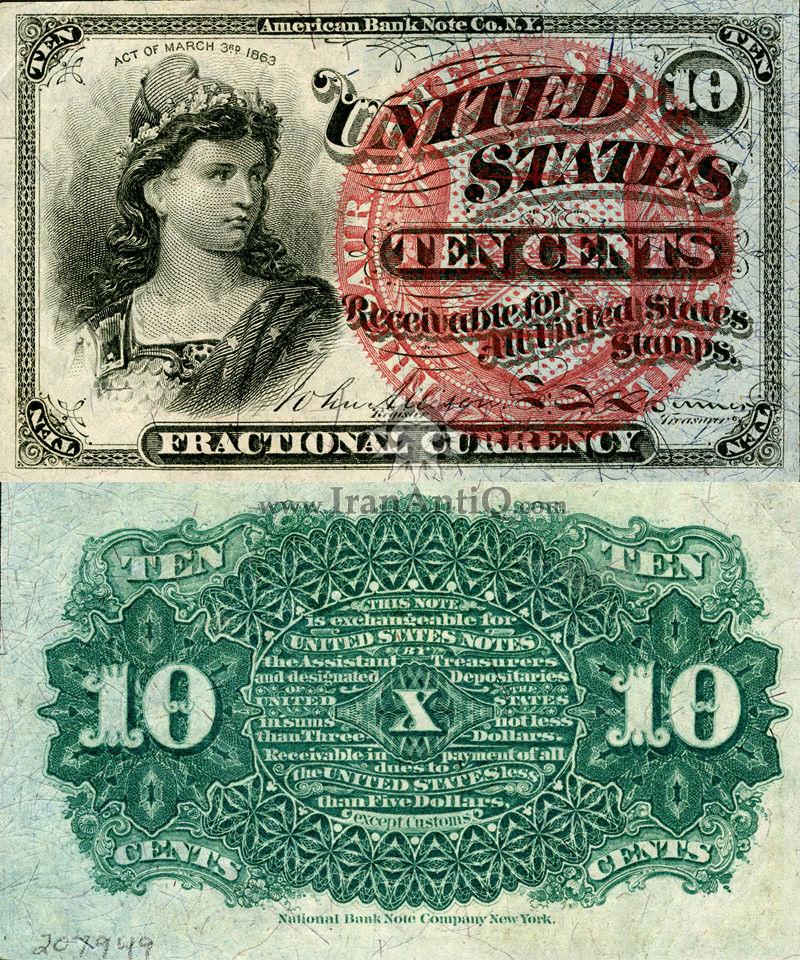 10 سنت سری فراکسیونال - نیم تنه زن