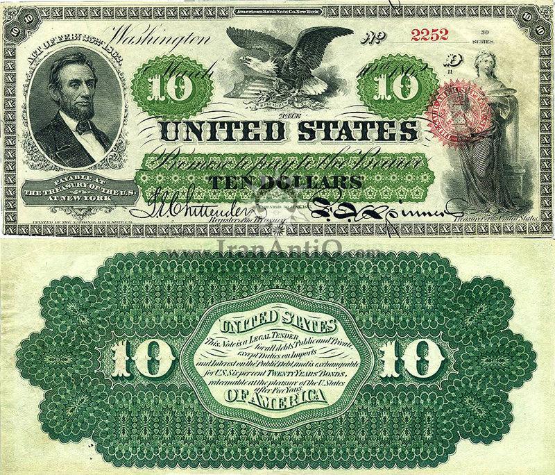 10 دلار سری رایج - آبراهام لینکلن
