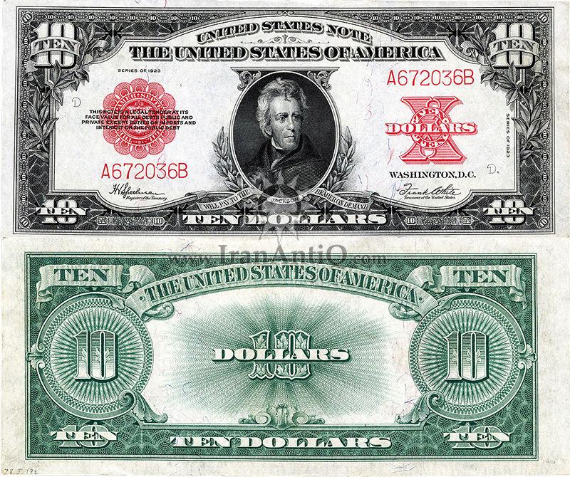 10 دلار سری ایالات متحده - اندرو جکسن