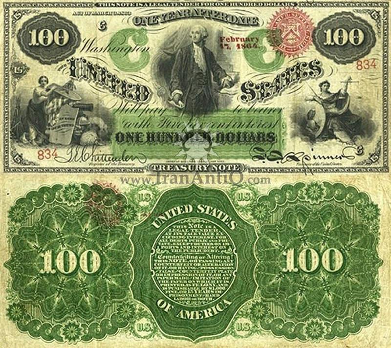 100 دلار سری رایج خزانه داری - جورج واشنگتن