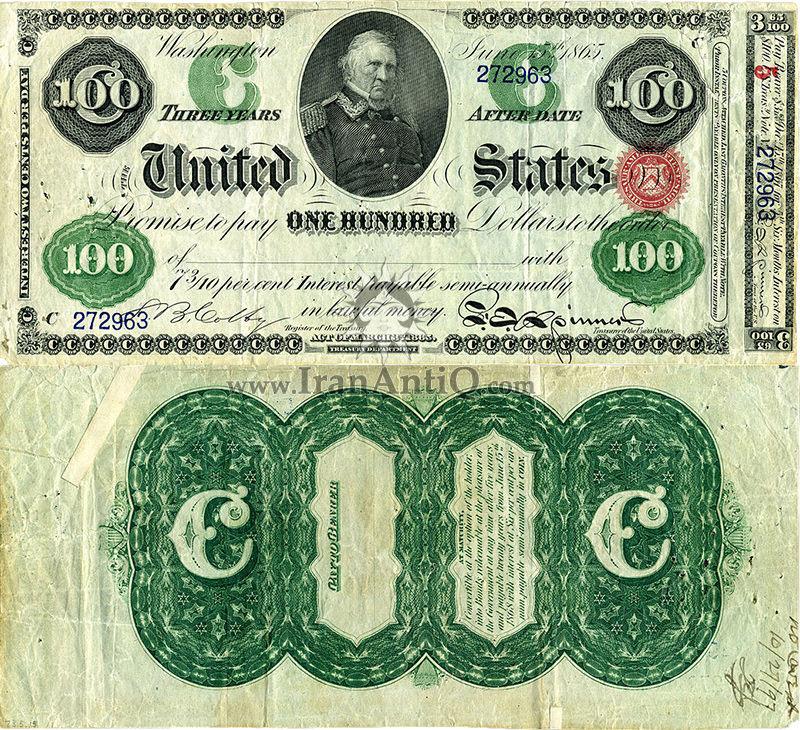 100 دلار سری بهره دار - وینفیلد اسکات