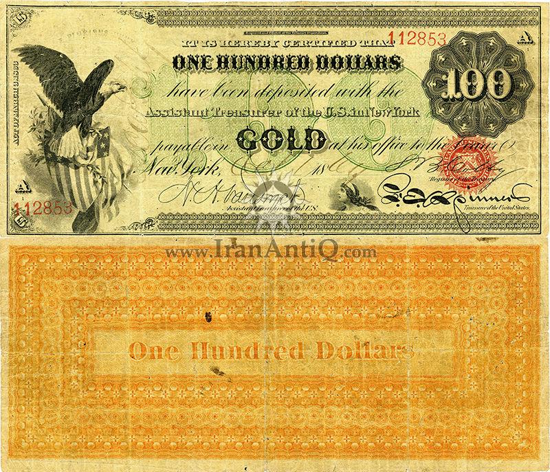 100 دلار سری گواهی طلا - عقاب نشان