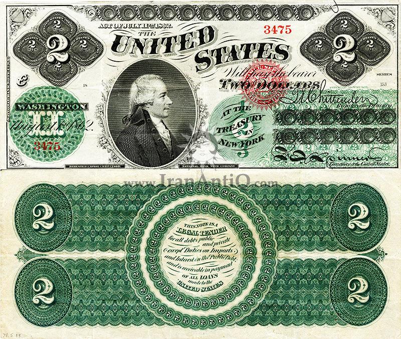 2 دلار سری رایج - الکساندر همیلتون