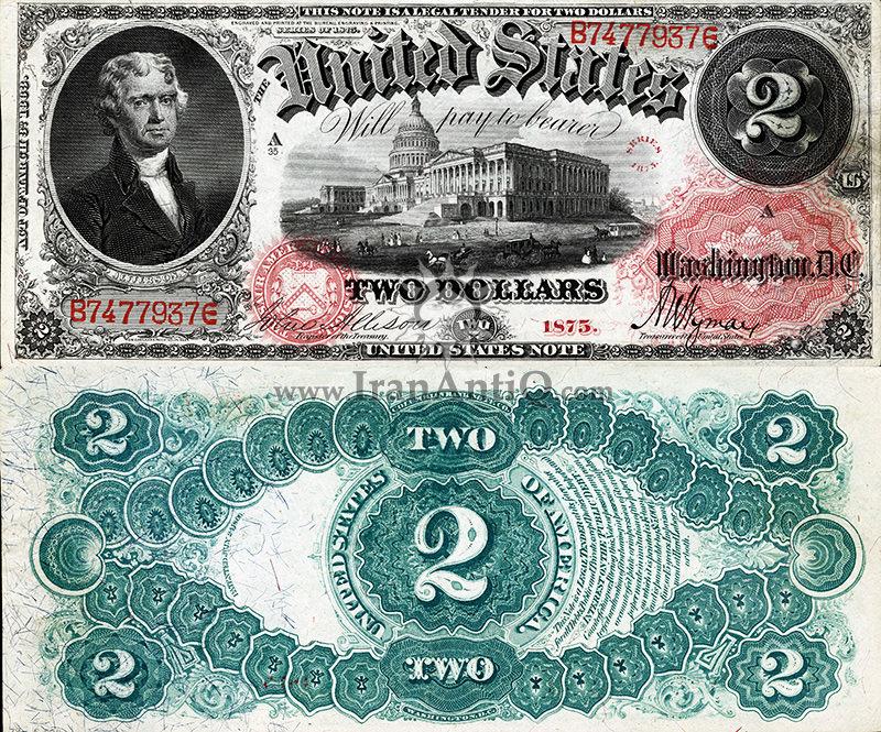 2 دلار سری رایج ایالات متحده