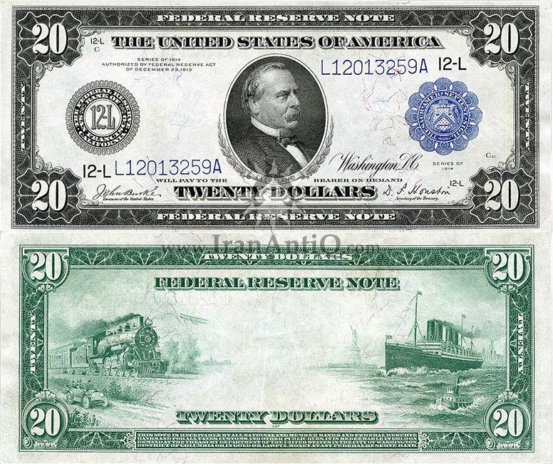 20 دلار سری فدرال رزرو - گروور کلیولند