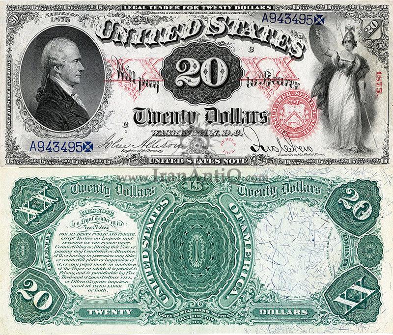 20 دلار سری رایج ایالات متحده - الکساندر همیلتون