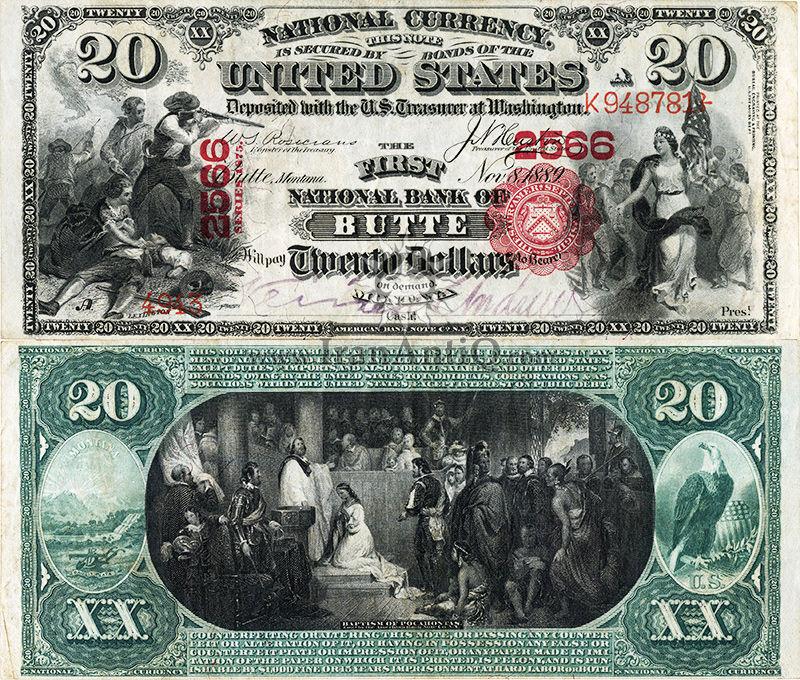 20 دلار 20 دلار سری ملی - غسل تعمید پوکاهانتس