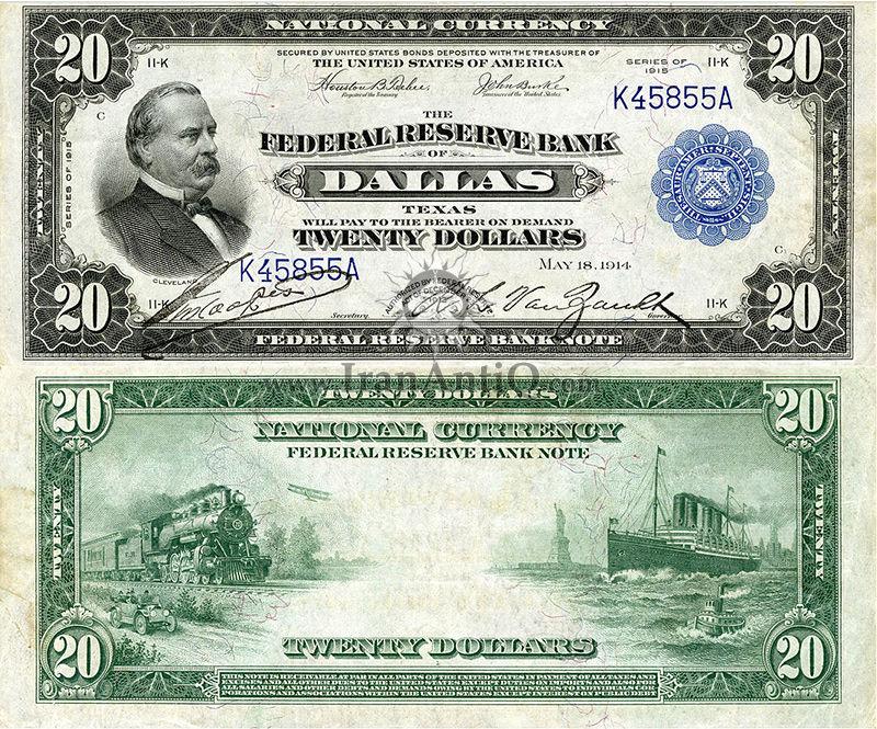 20 دلار سری ملی فدرال رزرو - گروور کلیولند