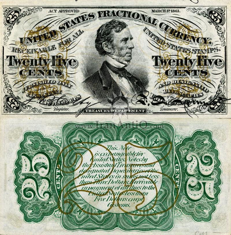 25 سنت سری فراکسیونال - ویلیام پیت فسندن
