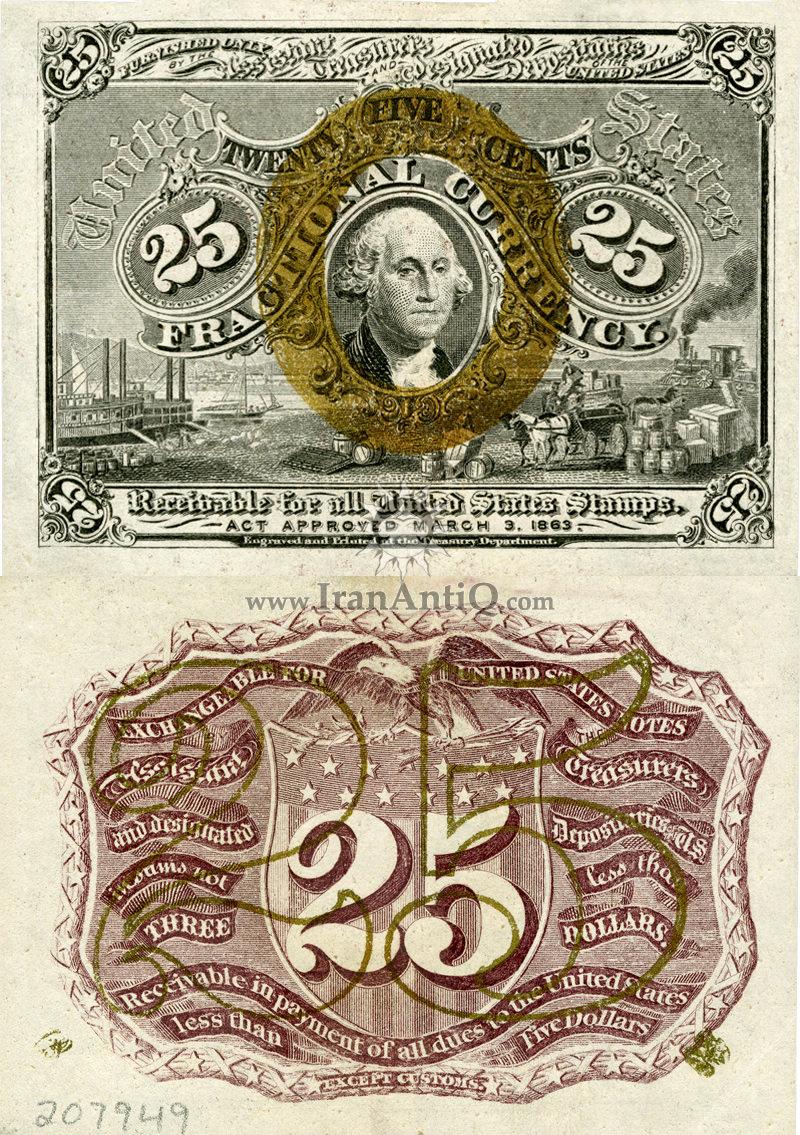 25 سنت سری فراکسیونال - جورج واشنگتن