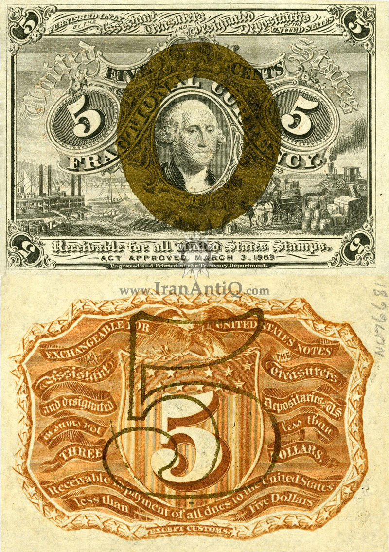5 سنت سری فراکسیونال - جورج واشنگتن