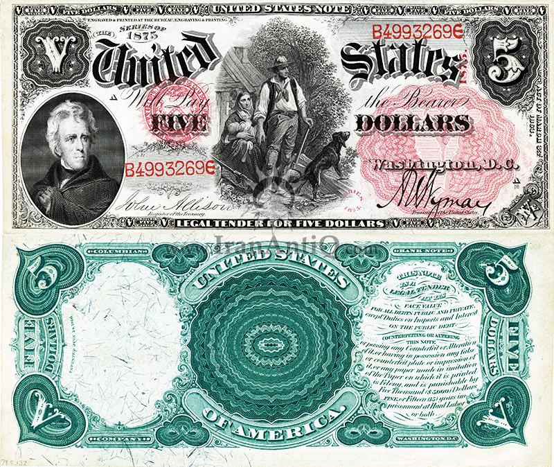 5 دلار سری رایج ایالات متحده - اندرو جکسن