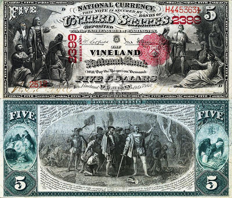 5 دلار سری ملی