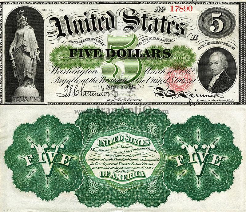 5 دلار سری رایج - الکساندر همیلتون