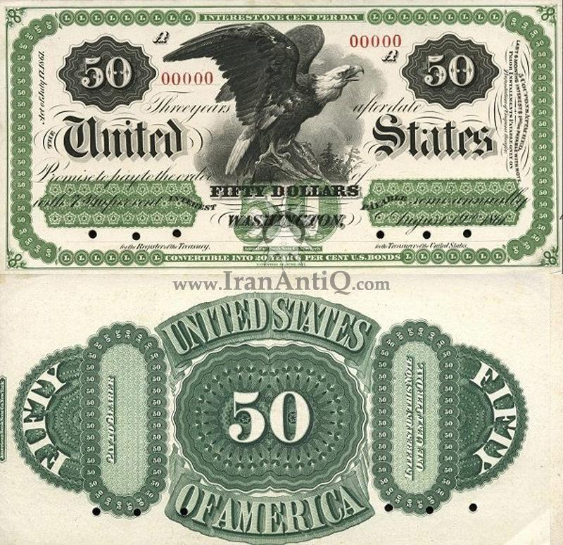 50 دلار سری بهره دار - عقاب