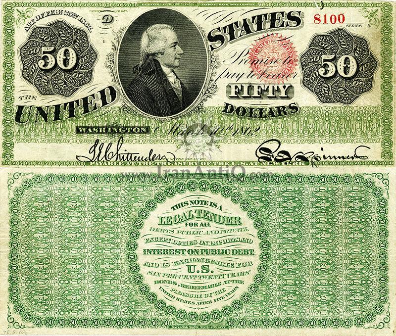 50 دلار سری رایج - الکساندر همیلتون