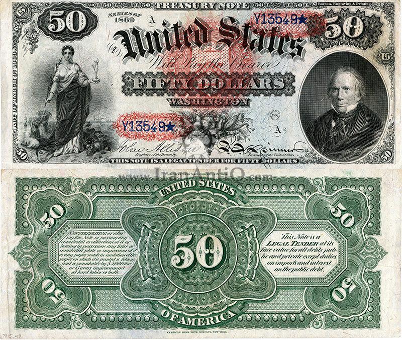 50 دلار سری رایج خزانه داری - هنری کلی