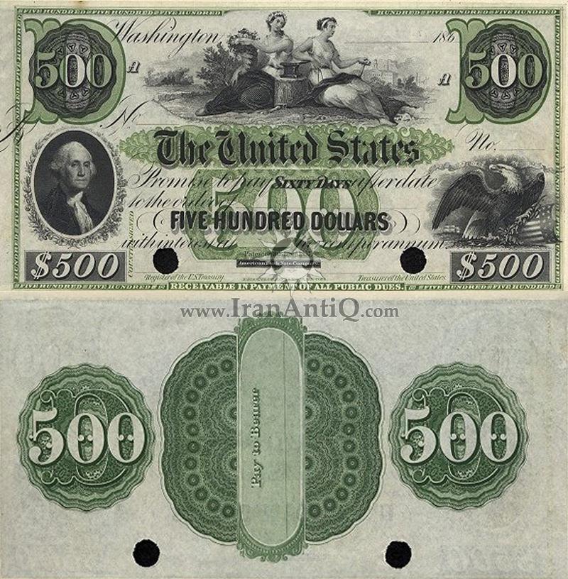 500 دلار سری بهره دار - جورج واشنگتن