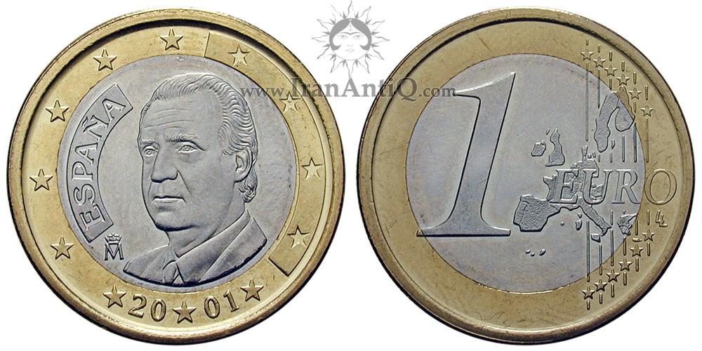 1 یورو خوان کارلوس یکم - نقشه