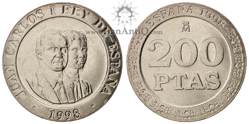 200 پزتا خوان کارلوس یکم - شاه و شاهزاده