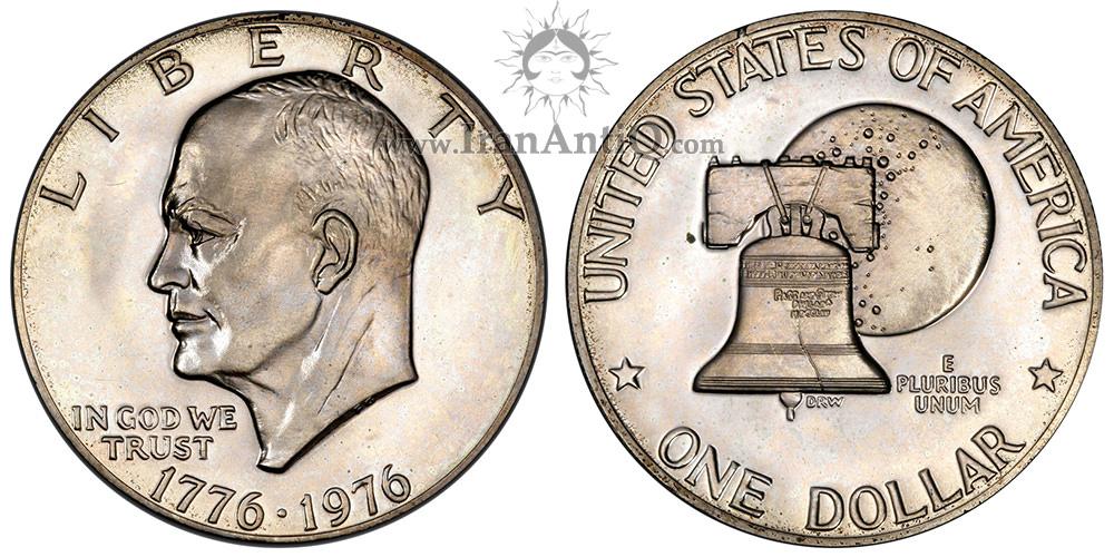 سکه یک دلار جشن دویست سالگی آیزنهاور - Eisenhower Bicentennial One Dollar