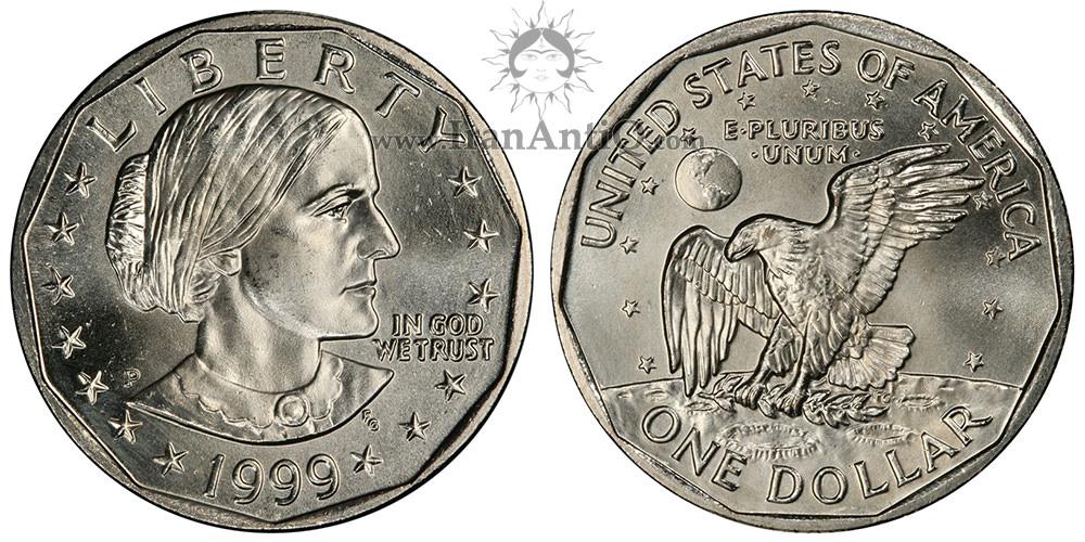 سکه یک دلار سوزان آنتونی - Susan B. Anthony Bust One Dollar