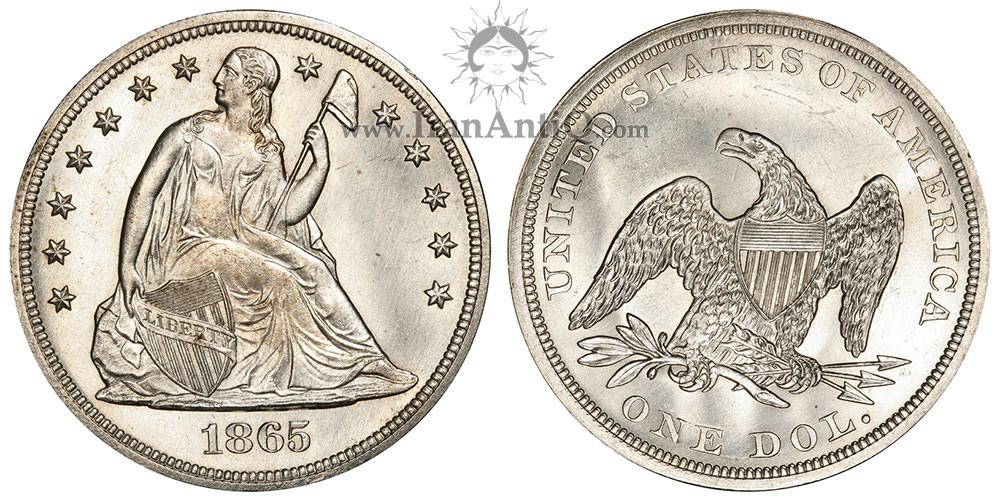 سکه دلار نماد آزادی نشسته - Seated Liberty One Dollar