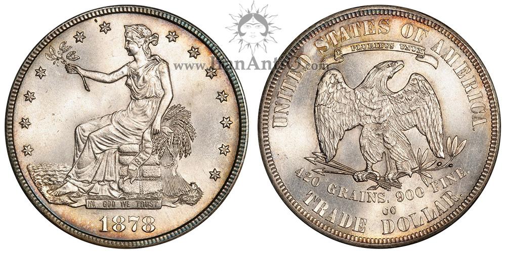 سکه یک دلار تجاری - Trade One Dollar