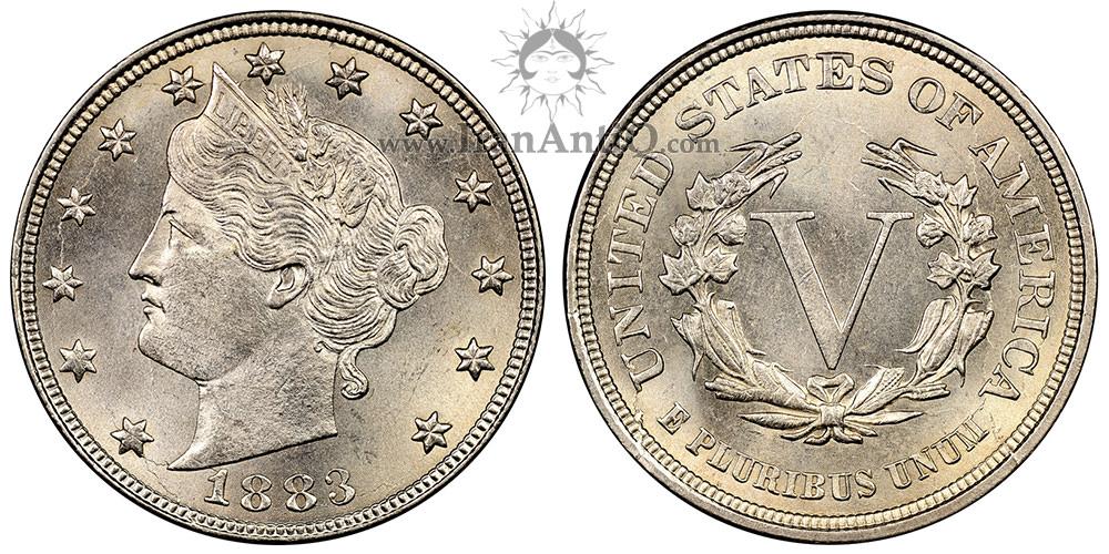 سکه پنج سنت نماد آزادی - بدون سنت