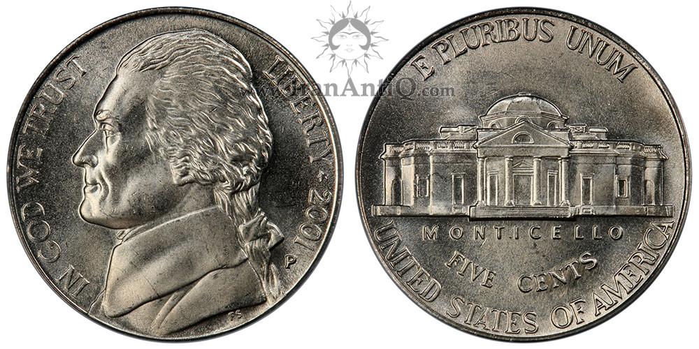 سکه پنج سنت جفرسون