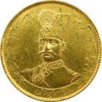 سکه طلا 2 تومان تصویری 1297 - AU58 - ناصرالدین شاه